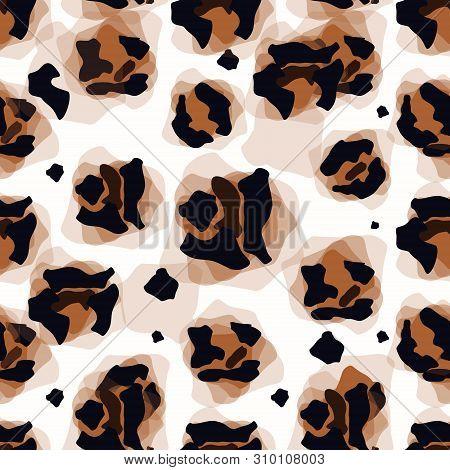 Vector Illustration Art Of Leopard Panther Panthera Pardus Linnaeus Skin Pelt For Background, Backdr