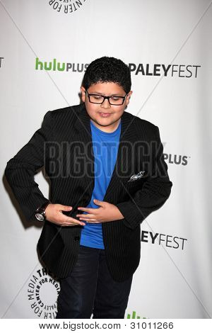 LOS ANGELES - MAR 14:  Rico Rodriguez arrives at the