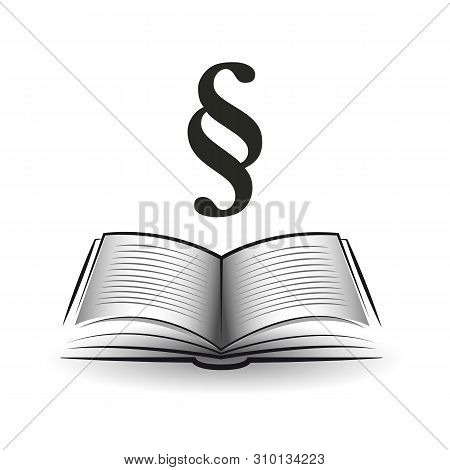 Statute Book With Paragraph Symbol Vector Illustration Eps10