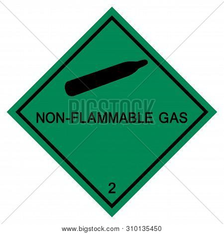 Non-flammable Gas Symbol Sign Isolate On White Background,vector Illustration Eps.10