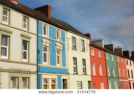 Row of colorful Irish houses, Cork, Ireland