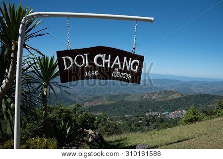 Doi Chang Or Doi Chaang Village Is Situated In The Northern Of Chiang Rai Province Thailand. Doi Cha