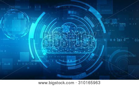 2d Rendering Cloud Computing, Cloud Computing Concept, Cloud Networking Background, Cloud Computing