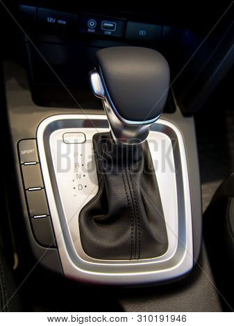 The Selector Of An Automatic Transmission In Position