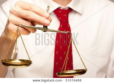 holding justice scale