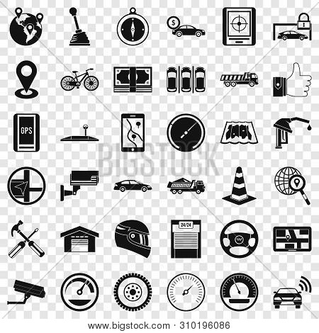 Evacuation Icons Set. Simple Style Of 36 Evacuation Vector Icons For Web For Any Design