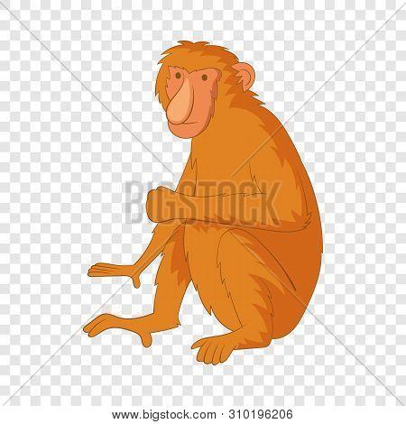 Proboscis Monkey Icon. Cartoon Illustration Of Proboscis Monkey Vector Icon For Web
