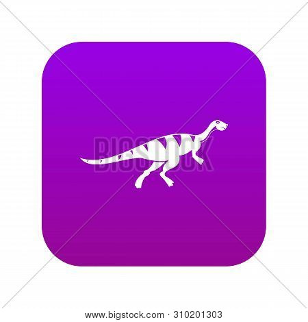 Gallimimus Dinosaur Icon Digital Purple For Any Design Isolated On White Vector Illustration