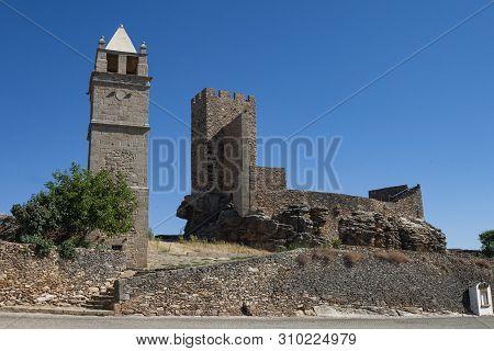 The Castle Of Mogadouro Is A Medieval Castle Located In The Civil Parish Of Mogadouro, Valverde, Val