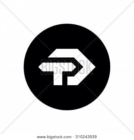 Td Or Dt Initial Logo, Minimal Icon Design On Black Circle Background - Vector