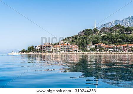 Beautiful Podgora Village In Makarska Riviera With Adriatic Sea, Croatia