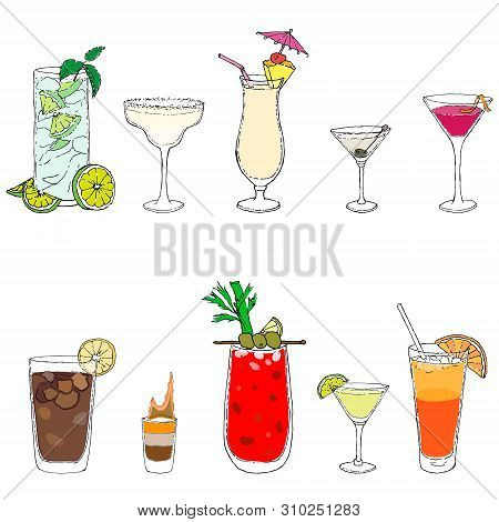 10 Most Famous Cocktails Of The World: Mojito, Bloody Mary, Daiquiri, Cosmopolitan, Long Island, Mar