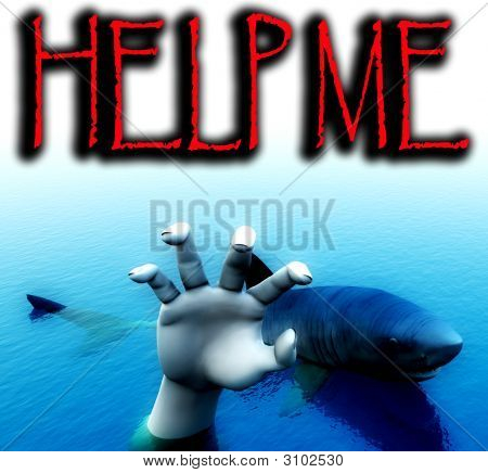 Shark Attack With Text