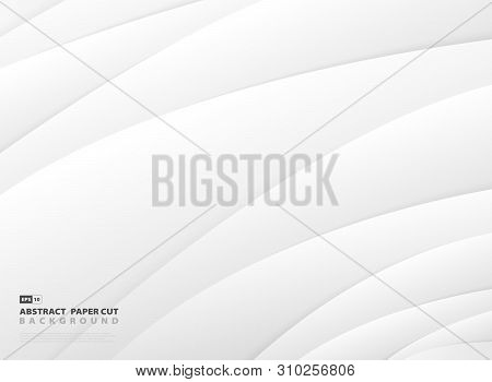 Abstract Gradient Gray And White Stripe Line Pattern Design Background. Vector Eps10