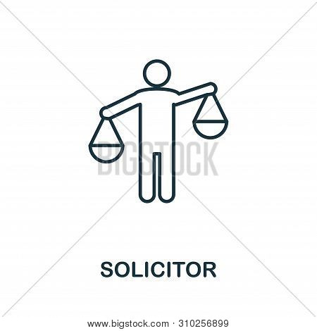 Solicitor Outline Icon. Thin Line Concept Element From Business Management Icons Collection. Creativ