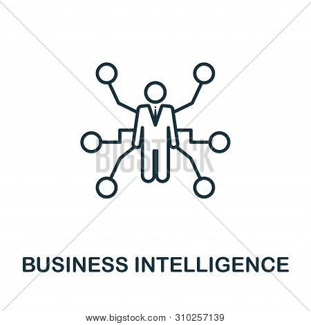 Business Intelligence Outline Icon. Thin Line Concept Element From Business Management Icons Collect