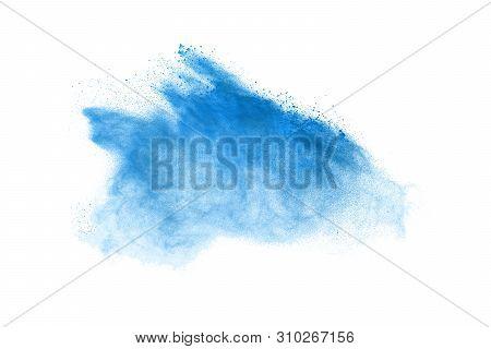 Freeze Motion Of Dust Explosion Isolated On White Background