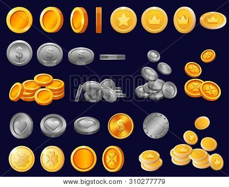 Coin Vector Golden Finance Money Cash And Gold Metal Treasure Icon Investment Illustration Coined Fi