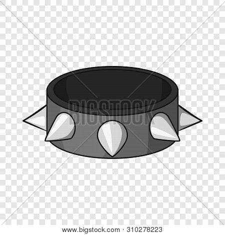 Bracelet With Metal Spikes Icon. Cartoon Illustration Of Bracelet With Metal Spikes Vector Icon For
