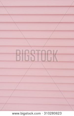 Pink Partition Wooden Screen Panel Room Divider. Bamboo Wood Folding Boudoir Background Close-up Tex