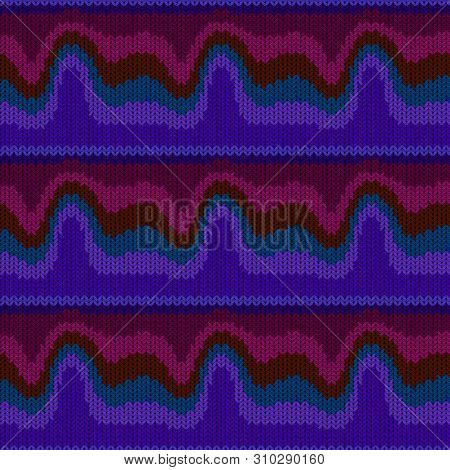 Seamless Background With A Knitted Texture, Imitation Of Wool. A Variety Of Different Patterns.