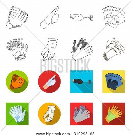 Vector Illustration Of Knitted And Keeper Icon. Collection Of Knitted And Hand Vector Icon For Stock
