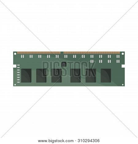 Vector Design Of Memory And Ram Icon. Collection Of Memory And Megabytes Stock Symbol For Web.