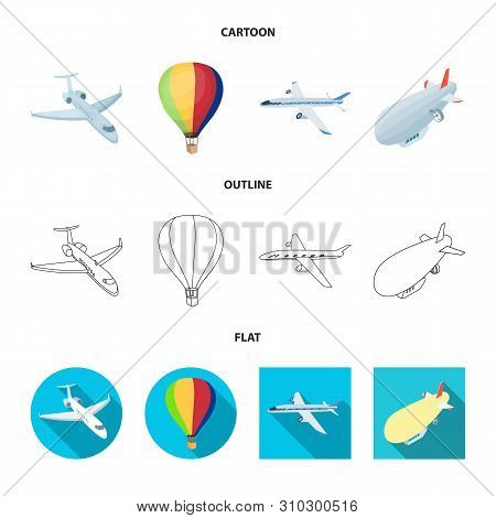 Isolated Object Of Transport And Object Icon. Set Of Transport And Gliding Stock Vector Illustration