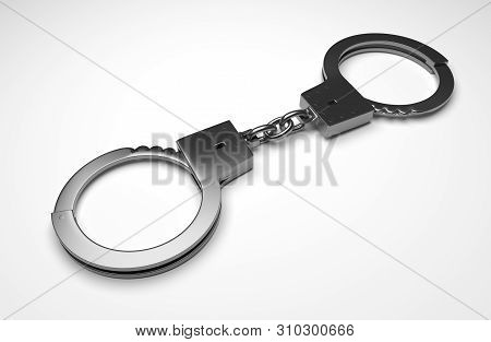 Real Metal Handcuffs.