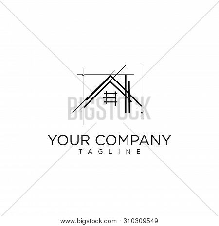 Architecture Realestate And Home Logo Vector Stock Simple