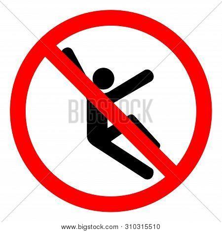 Injury Hazard Climb Hazard Symbol Sign, Vector Illustration, Isolate On White Background Label .eps1