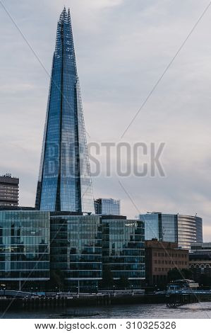 London, Uk - June 22, 2019: View Of City Skyline And The Shard From The Opposite Side Of The River T