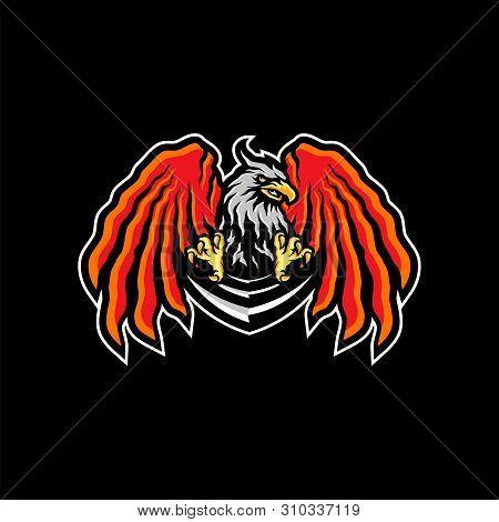 Eagle eSports Logo Design Vector. Eagle Team Mascot Gaming Logo Concepts. poster