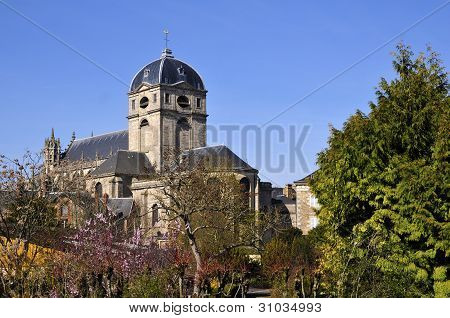 Basilica Notre Dame at Alençon in France