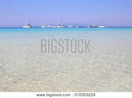 Landscape Of Voutoumi Beach Antipaxos Ionia Islands Greece