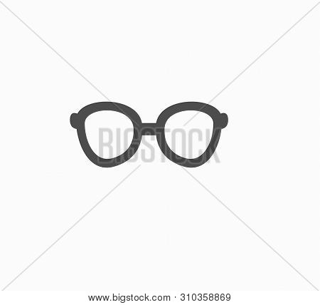 Flat Vector Design Glasses Icon Isolated. Poor Vision, Myopia