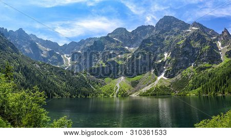 Sea Eye Lake In The Polish Tatras. Lake Of The Top Five Best Lakes In The World