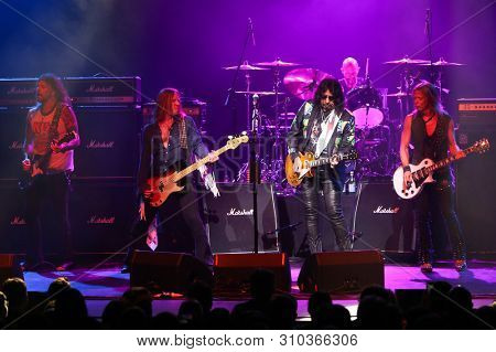 HUNTINGTON, NY - JUL 2: Ace Frehley performs in concert at the Paramount on July 2, 2019 in Huntington, New York.