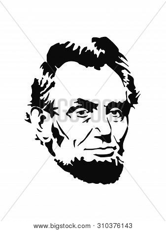 Lincoln Icon Isolated On White Background. Lincoln Icon Simple Sign.lincoln Portrait.vector Design