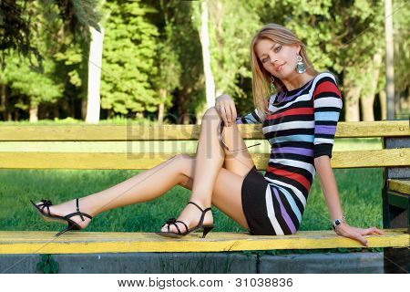 Leggy Pretty Young Blonde