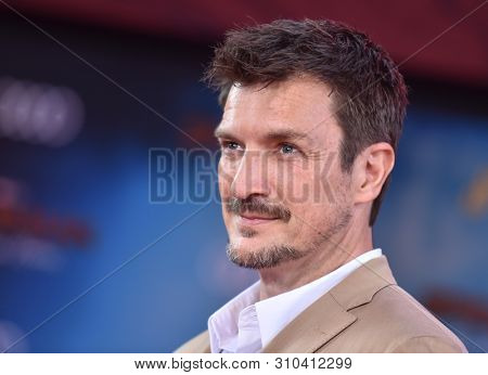 LOS ANGELES - JUN 26:  Nathan Fillion arrives for the 'Spider-Man: Far From Home' World Premiere on June 26, 2019 in Hollywood, CA