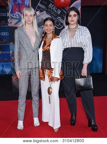 LOS ANGELES - JUN 26:  Hunter Schafer, Alexa Demie and Barbie Ferreira arrives for the 'Spider-Man: Far From Home' World Premiere on June 26, 2019 in Hollywood, CA