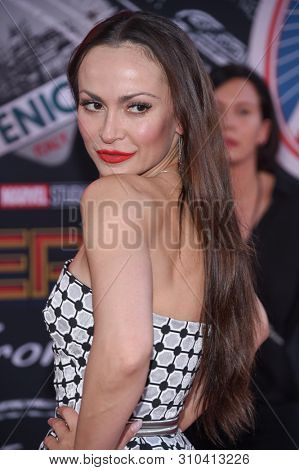 LOS ANGELES - JUN 26:  Karina Smirnoff arrives for the 'Spider-Man: Far From Home' World Premiere on June 26, 2019 in Hollywood, CA