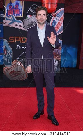 LOS ANGELES - JUN 26:  Jon Watts arrives for the 'Spider-Man: Far From Home' World Premiere on June 26, 2019 in Hollywood, CA