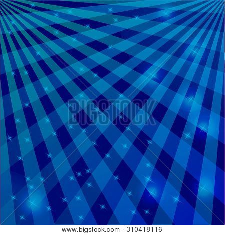 Background In Blue Tone Tones Of Intersecting Lines With Flickering Lights. Great Solution For Textu