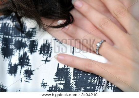 Engagement Ring At Throat