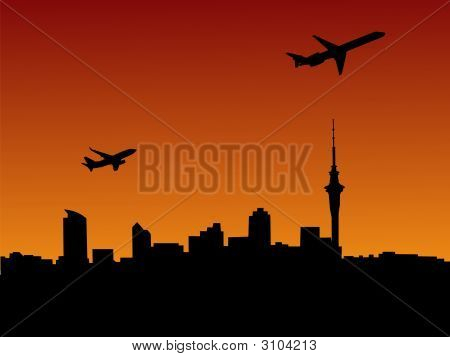Planes Departing Auckland