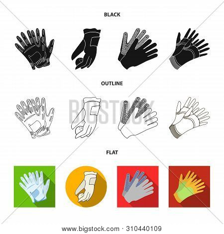 Vector Illustration Of Knitted And Keeper Sign. Collection Of Knitted And Hand Vector Icon For Stock