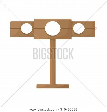 Isolated object of guillotine and torture icon. Set of guillotine and punishment vector icon for stock. poster