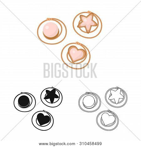 Vector Design Of Hairgrip And Hairdo Sign. Set Of Hairgrip And Clip Vector Icon For Stock.
